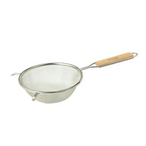 Tin Plated Steel Wood Handle Strainer 6.25