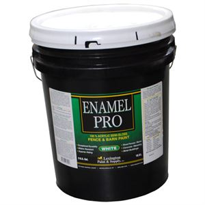 Enamel Pro White Fence and Barn Paint, 5 Gallon