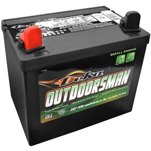 12V Deka Lawn Mower Battery, Left Positive