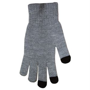Tech Knit Gloves - Solid Gray w/ Black Tips