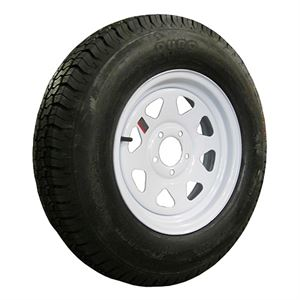 Trailer Tire and Wheel Assembly, ST205/75D15