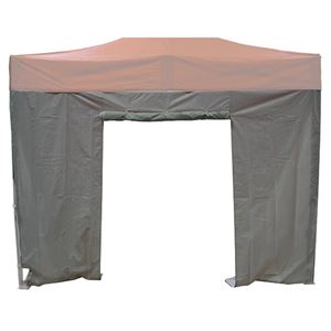 Sidewall with Door for Tent, White