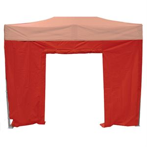 Red Sidewall With Door For the Pop Up Tent