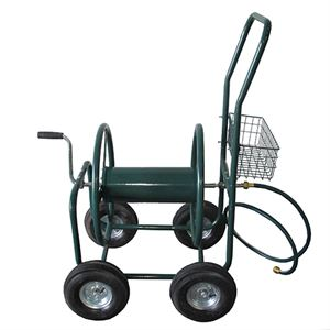 Hose Reel Cart with Pneumatic Wheels