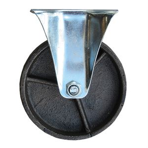 Steel Caster, Fixed Plate, 5 In. x 1-1/4 In.