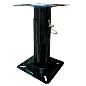 Adjustable Boat Seat Pedestal, 11-1/2 to 17-1/2 In., Black