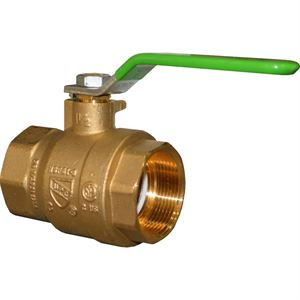 "1-1/2"" IP Brass Ball Valve Full Port Lead Free"