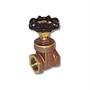 2-1/2 In. Gate Valve, Full Port, Cast Brass