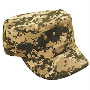 Military Style Digital Camo Hat, Velcro Closure