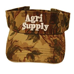 Agri Supply ® Camo Visor, White Logo