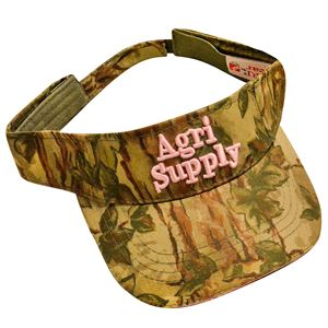 Agri Supply ® Camo Visor, Pink Logo