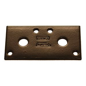 Miter Joint Mending Plate, Steel, 3 In. x 1.3 In. x 1/8 In.