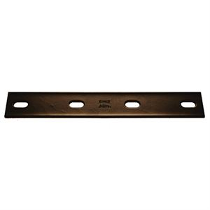 Steel Mending Plate, Black, 10 In. x 1-1/2 In. x 1/8 In.