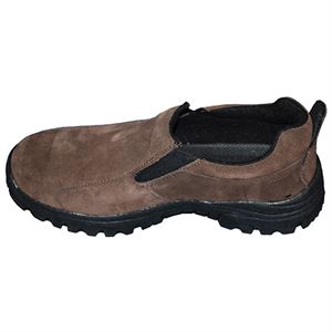 Mens Slip On Hiking Shoe, Dark Brown, Size 10.5