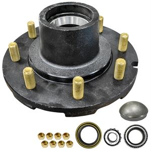 Hub Assembly, 8 Stud, 8 In. Bolt Pattern, 6000 Lb. Capacity
