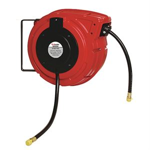 Air Hose Reel, Polymer Air Hose, 3/8 In. x 50 Ft., 300 PSI