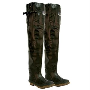 Mens Rubber Waterproof Hip Waders, Size 12