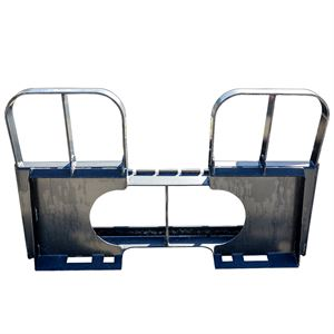 Pallet Fork Carriage Frame with Skid Steer Mount