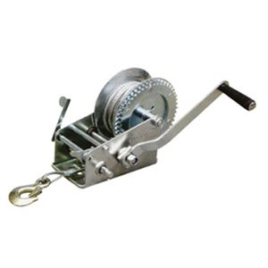 Pulling Winch with Steel Cable and Hook, 1200 Lb. Capacity