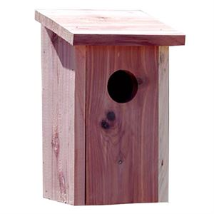 Bluebird House, Cedar, 5.8 In. x 5.5 In. x 5.8 In., 1-1/2 Entrance Hole
