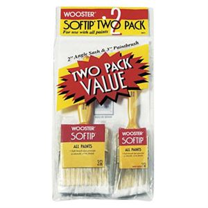 Wooster® Softtip® Brushes, 3 In. Brush, 2 In. Angle Sash