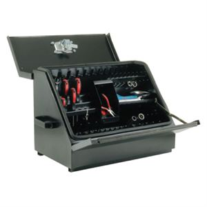 Black Steel Toolbox, 30 In.