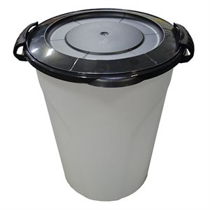 Plastic Utility Can with Lid, 24 Quart