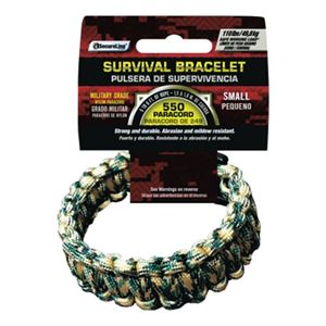 Paracord Survival Bracelet, Camo, Small