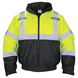 Hi-Viz Jacket, Hooded, Class 3, Large