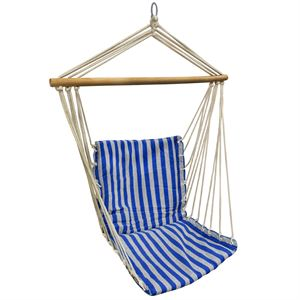Hanging Beach Chair, Blue and Grey