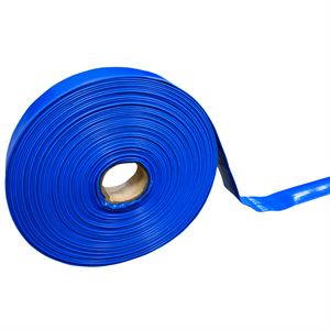 Blue PVC Discharge Lay Flat Hose, 1-1/2 In.