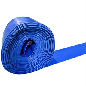 Blue PVC Discharge Lay Flat Hose, 4 In.