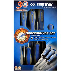 King Tony Screwdriver Set, 6 PC