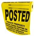 Posted Property Signs, 100 Per Roll