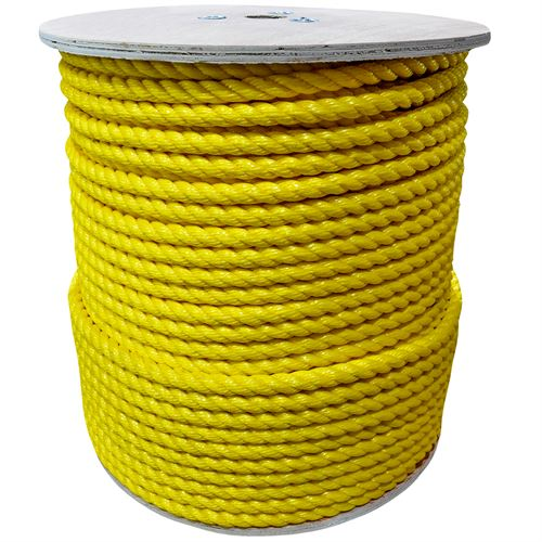 3-Strand Twisted Poly Rope, 5/8 In.