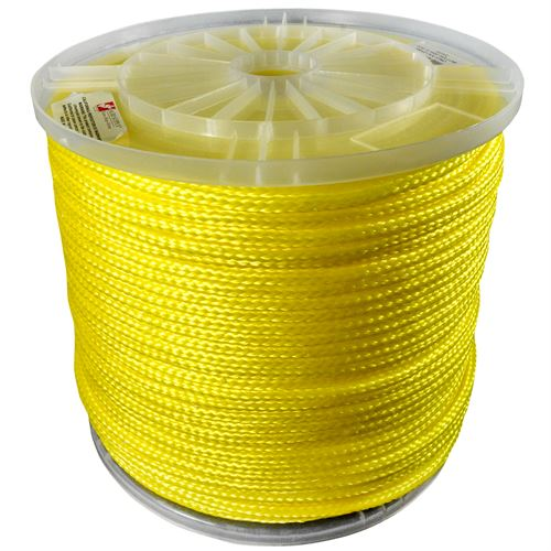 Hollow Braided Poly Rope, 3/16 In. x 1,000 ft.