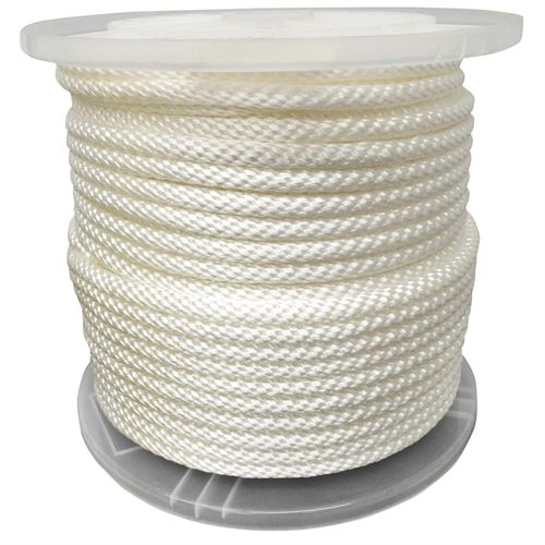 #12 Solid Braided Nylon Rope, 3/8 In.