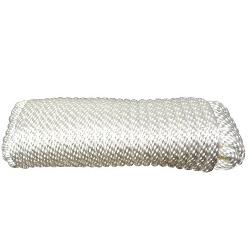 Solid Braided Poly Rope, 3/8 In. x 50 Ft.