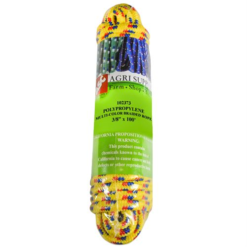 Multi-Color Utility Rope, 3/8 In. x 100 Ft.