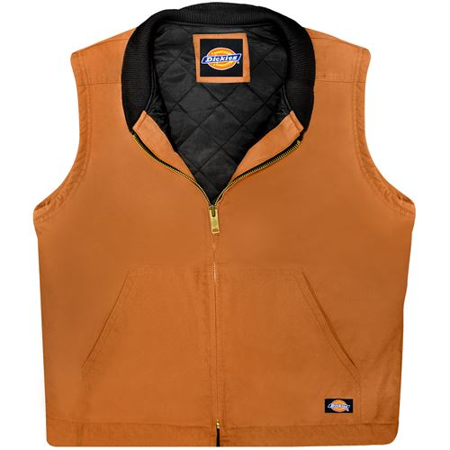 Brown Duck Insulated Vest, Large