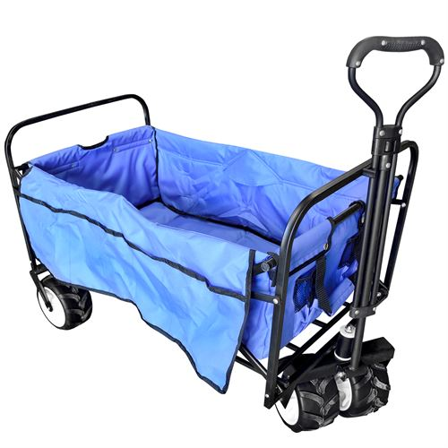 Blue Collapsible Beach Wagon