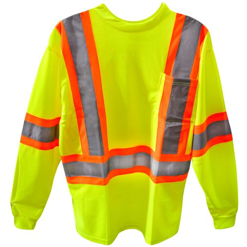 Hi-Viz Long Sleeve T-Shirt, XL
