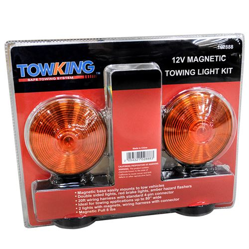 Magnetic Red/Amber Tow Light Kit