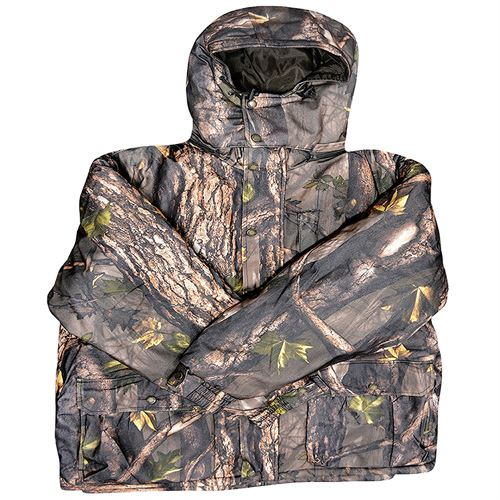 Insulated Camo Parka with Hood, 2X