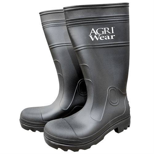 Black Waterproof 15 PVC Economy Knee Boots Mens 12