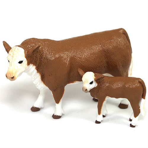 Toy Hereford Cow and Calf