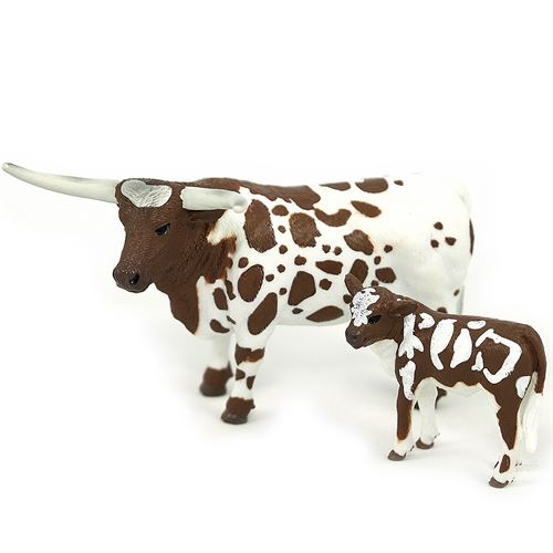 Toy Longhorn Cow and Half