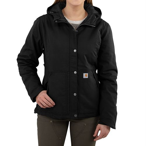 Womens Insulated Jacket Black Medium