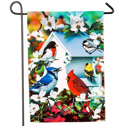 Backyard Birds Garden Flag