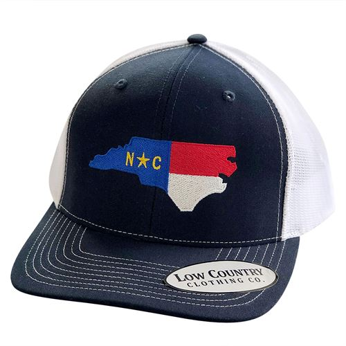 NC State Flag Navy/White Hat